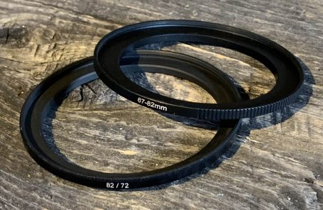 step-up or step-down filter rings