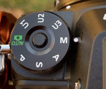 Camera dial set to manual mode