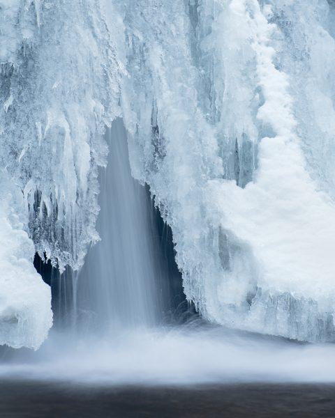 Icy waterfall image